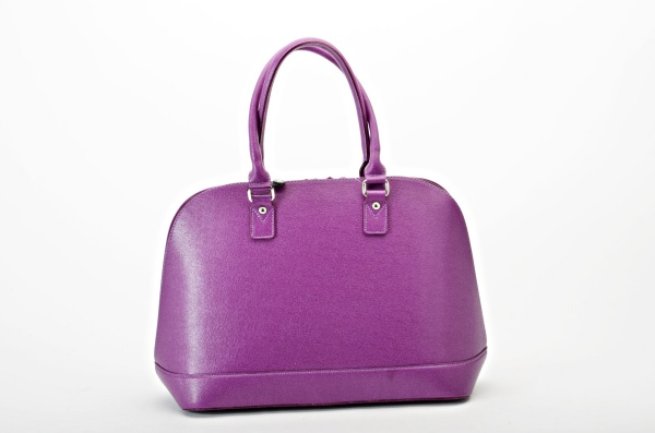 MADE IN ITALY – Classic Style Violet Bag