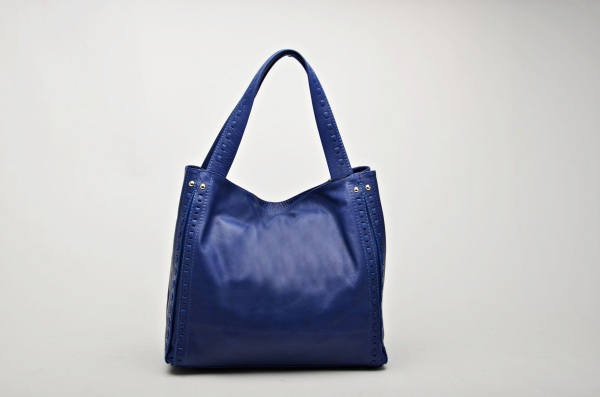 MADE IN ITALY – Soft Blue Shopper Bag
