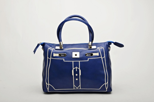 MADE IN ITALY – Fashion Design Blue Bag