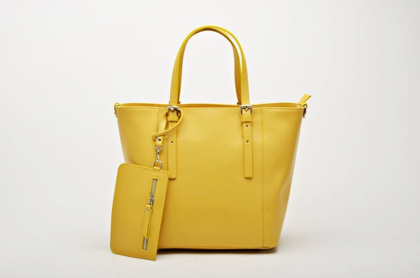 MADE IN ITALY – Classic Yellow Shopper Bag