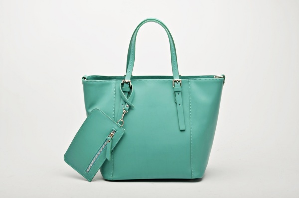 MADE IN ITALY – Classic Turquoise Shopper Bag