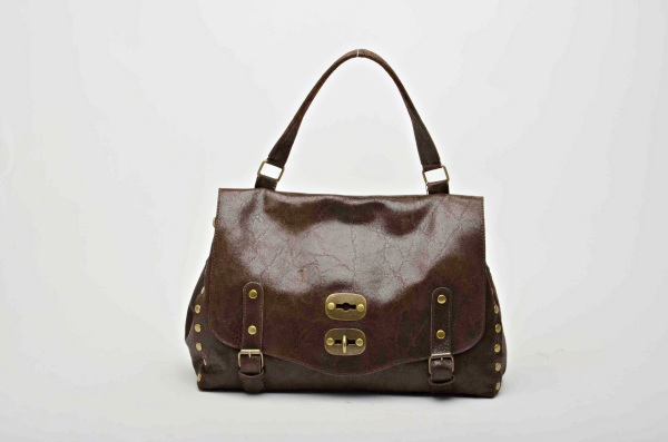 MADE IN ITALY – Stylish Brown Leather Bag