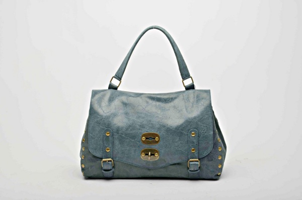 MADE IN ITALY – Stylish Petrol Leather Bag
