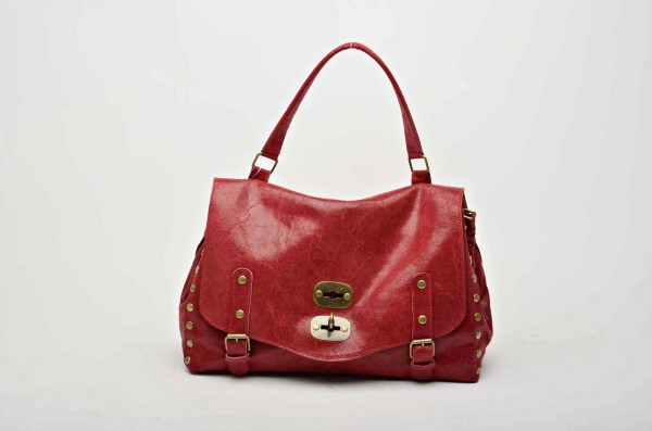 MADE IN ITALY – Stylish Red Leather Bag