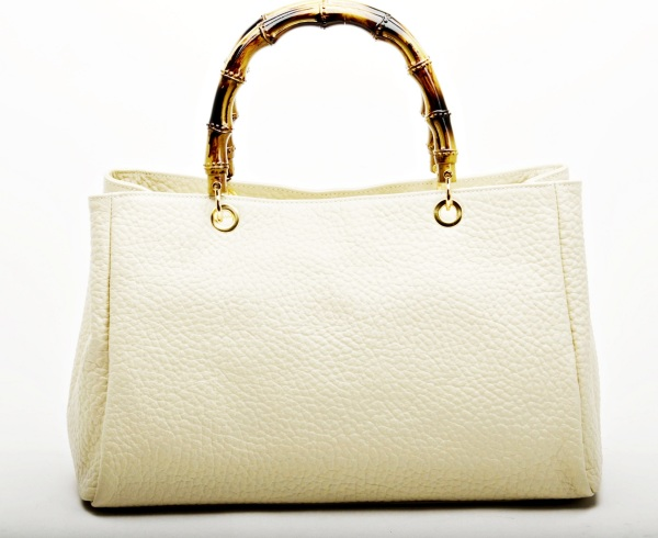 MADE IN ITALY – Elegant Beige Leather Bag