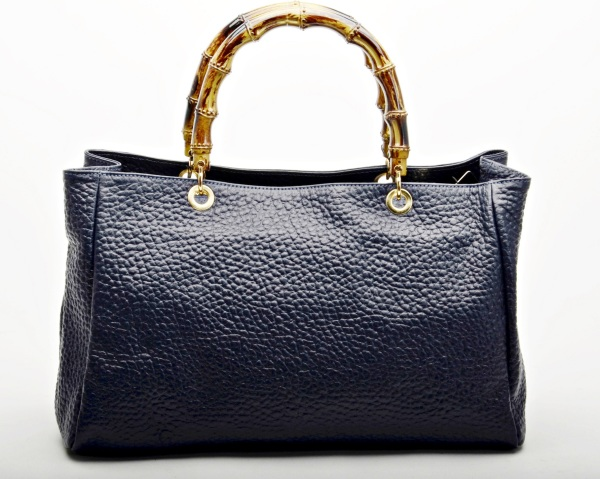 MADE IN ITALY – Elegant Black Leather Bag